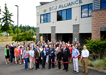 2014 ribbon cutting for SCJs new Lacey headquarters building