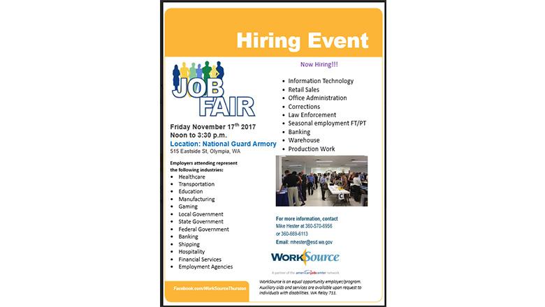 Now Hiring Workforce Thurston Is Hosting A Job Fair Thurston